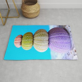 Oursin color coquillage Rug