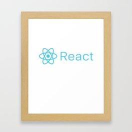 React Framed Art Print