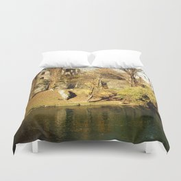 The autumn in the fort Duvet Cover