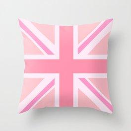 Pink Union Jack/Flag Design Throw Pillow