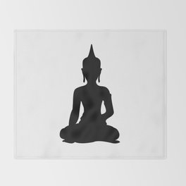 Simple Buddha Throw Blanket