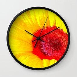 Summer Floral Abstract Wall Clock