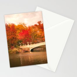 New York City Autumn Magic in Central Park Stationery Cards