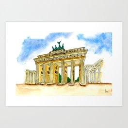 Brandenburger Gate (Berlin) Art Print