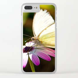White Butterfly Clear iPhone Case
