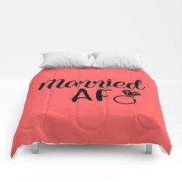 Married AF - Coral Comforters