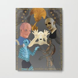 Doug Jones collage Metal Print