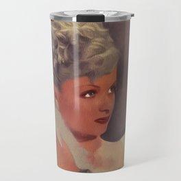 Joan Bennett, Vintage Actress Travel Mug
