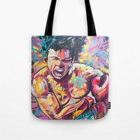 ali Tote Bags featuring Ali by somanypossibilities