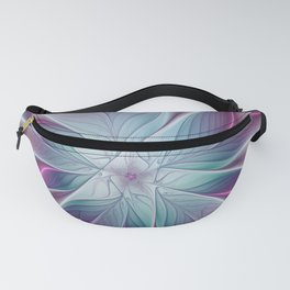 Floral and Luminous, abstract Fractal Art Fanny Pack