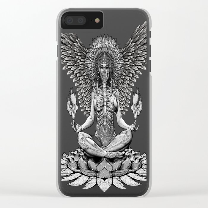 The angel start to pray... Clear iPhone Case