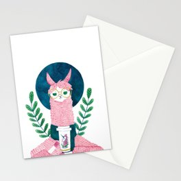 The coffee Llama Stationery Cards
