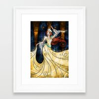 mandie manzano Framed Art Prints featuring Once upon a December by Mandie Manzano