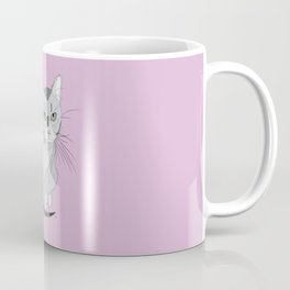The drawing of cute grey tired cat Coffee Mug