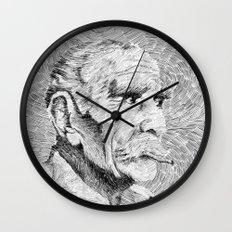 Hombre - black ink Wall Clock