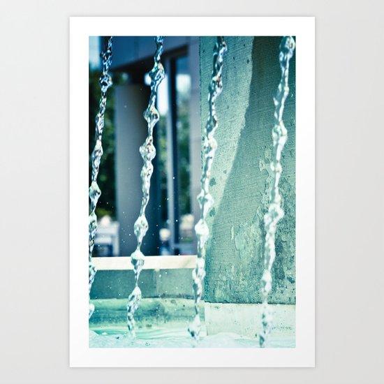 Waterfalling. Art Print
