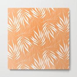 Ash Tree Leave Scandinavian Pattern Metal Print