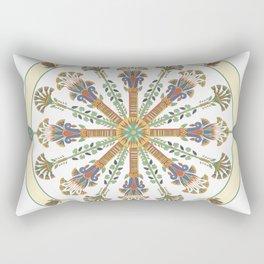 Egyptian Nouveau Mandala Rectangular Pillow