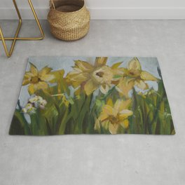 Clouds of Daffodils Rug
