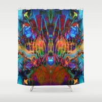 psych Shower Curtains featuring Soul Cleanser by Work the Angle
