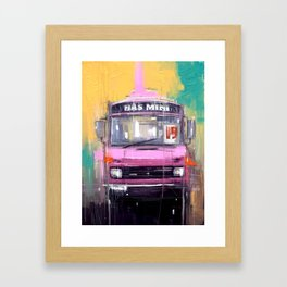 Bus no. 19 Framed Art Print