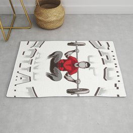 Shut Up And Squat No Excuses Funny Gym Lifting Rug