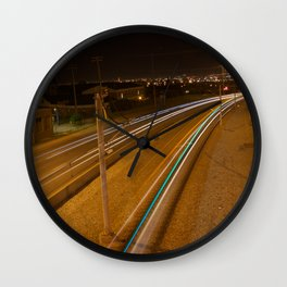 C-Train at night 2 Wall Clock