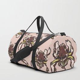 T.F TRAN BROWN BUTTERFLY IRIS CREAM EDITION Duffle Bag