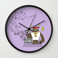 rap Wall Clocks featuring Gangst@#Rap by Saar Gil