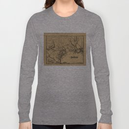 Vintage Map of Texas (1838) Long Sleeve T-shirt