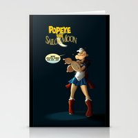 popeye Stationery Cards featuring Popeye the Sailor Moon by bluthan