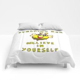 Spelling Bee Bee.Lieve In Yourself Funny Bumblebee Motivational Kids Design Comforters