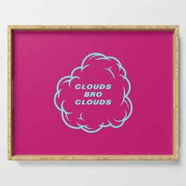 Clouds Bro Clouds 80s Serving Tray