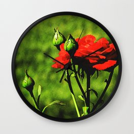 A Kiss from a Rose Wall Clock