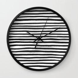 Ink Stripes Pattern Wall Clock