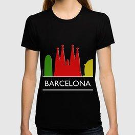 barcelona skyline T-shirt