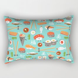 Happy Sushi Rectangular Pillow