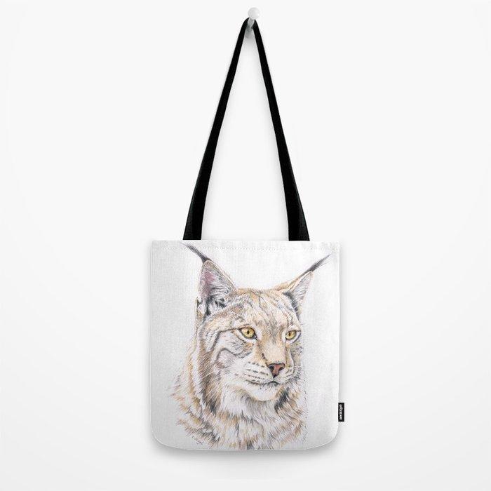 Lynx - Colored Pencil Tote Bag
