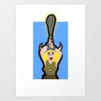 dungeons and dragons Art Prints featuring DUNGEONS & DRAGONS - BOBBY by Zorio