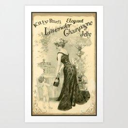 Kitty Pearl's Elegant Lavender Champagne Jelly Art Print