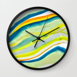 Earth Lines Marbling, Unite Wall Clock