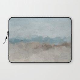 Ocean Horizon Sandy Sunny Beach Day Clear Blue Skies Abstract Nature Painting Art Print Wall Decor  Laptop Sleeve