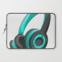 Blue and black headset Laptop Sleeve
