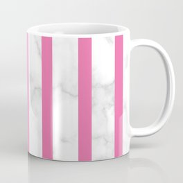 marble vertical stripe pattern pink Coffee Mug
