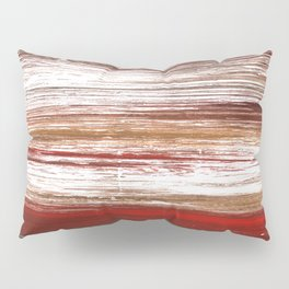 Red brown lines Pillow Sham