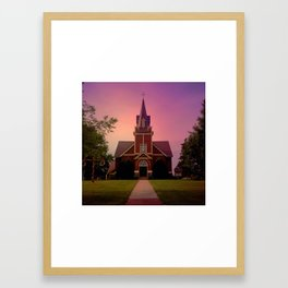 Eksjo evening Framed Art Print
