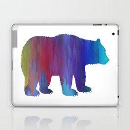 Rainbow Watercolor Dripping Bear Laptop & iPad Skin