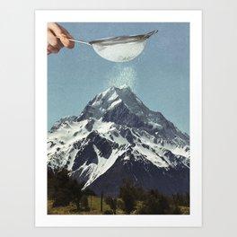 Sifted Summit Art Print