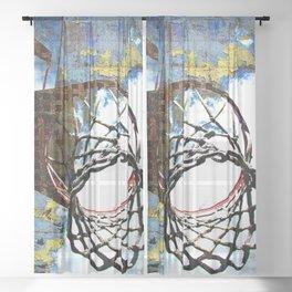 Basketball artwork vs 30 swoosh Sheer Curtain