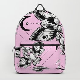 Assortment of Pastel Goth Moths Backpack